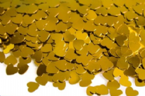 Gold 6mm Hearts Table Confetti (14g)